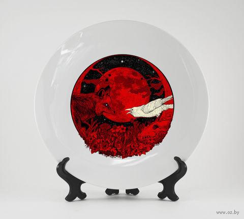 """Тарелка """"Лиса и ворон"""" (арт. 798)"""