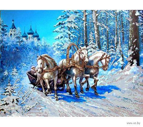"Канва с нанесенным рисунком ""Зимний путь"""