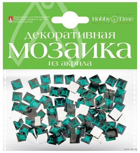 Мозаика декоративная из акрила №17 (8х8 мм; 100 шт.; бирюзовый) — фото, картинка