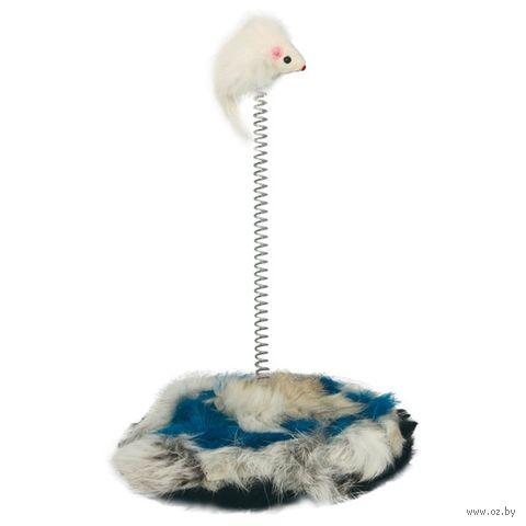 """Игрушка для кошек """"Мышь на подставке"""" (25 см) — фото, картинка"""