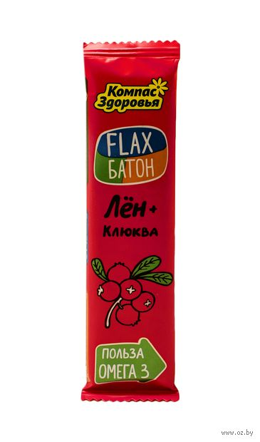 "Батончик грильяжный ""Flax. Лён и клюква"" (30 г) — фото, картинка"