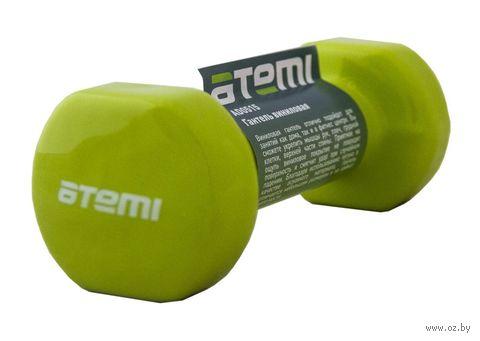 Гантель виниловая AD0515 1,5 кг (зелёная) — фото, картинка