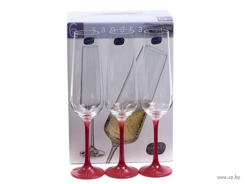 """Бокал для шампанского стеклянный """"Sandra"""" (6 шт.; 200 мл; арт. 40728/D4657/200) — фото, картинка"""