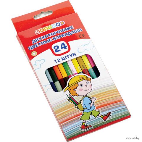 """Набор карандашей цветных """"Цветик"""" (12 шт.; 24 цвета)"""