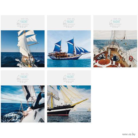 """Тетрадь в клетку 48 листов """"Корабли. Yacht Club"""""""
