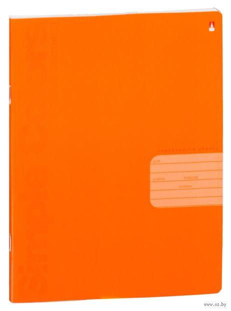 """Тетрадь в линейку """"Простые цвета"""" (18 листов; в ассортименте) — фото, картинка"""