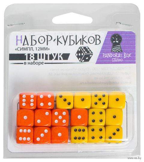 """Набор кубиков """"Симпл"""" (18 шт.; жёлтый, оранжевый) — фото, картинка"""