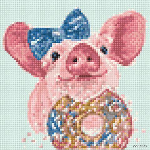 """Алмазная вышивка-мозаика """"Любитель сладостей"""" (200х200 мм) — фото, картинка"""