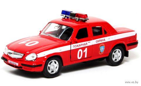 """Модель машины """"ГАЗ-31105. Волга. Пожарная охрана"""" (масштаб: 1/43)"""