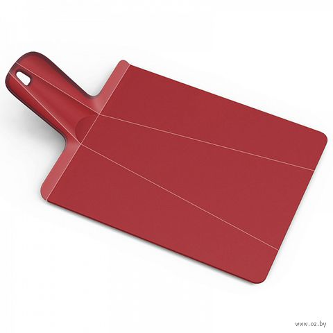 "Доска-трансформер разделочная ""Chop2Pot Plus"" (380х210х15 мм; красная) — фото, картинка"