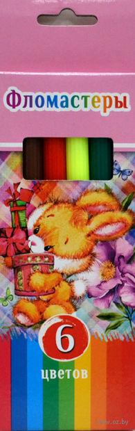 """Фломастеры """"Смешной зайчик"""" в картонной коробке (6 цветов)"""