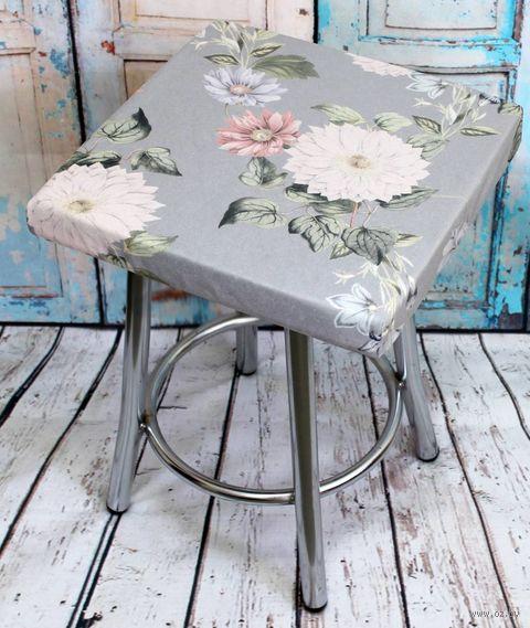"Подушка на стул ""Cuadro Concept. Цветы на Сером"" (33х33 см) — фото, картинка"