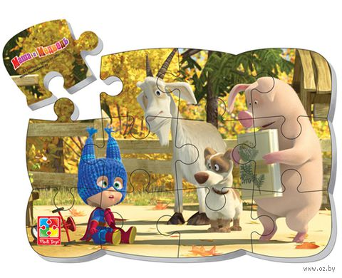 """Пазл магнитный """"Маша и Медведь"""" (12 элементов; арт. VT3205-51) — фото, картинка"""