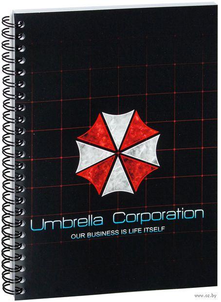 """Блокнот в клетку """"Обитель зла. Umbrella Corporation"""" (A5; арт. 424)"""
