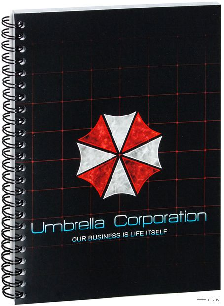 "Блокнот в клетку ""Umbrella Corporation"" A5 (424)"