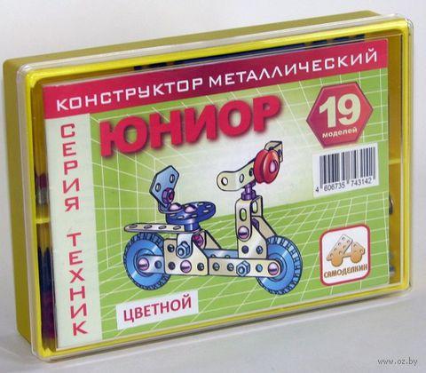 """Конструктор металлический """"Цветной. Юниор"""" (124 детали)"""