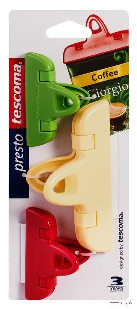 """Набор прищепок для пакетов """"Presto"""" (3 шт.) — фото, картинка"""