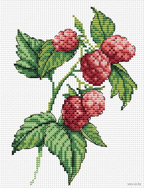 """Вышивка крестом """"Веточка малины"""" (150х180 мм) — фото, картинка"""
