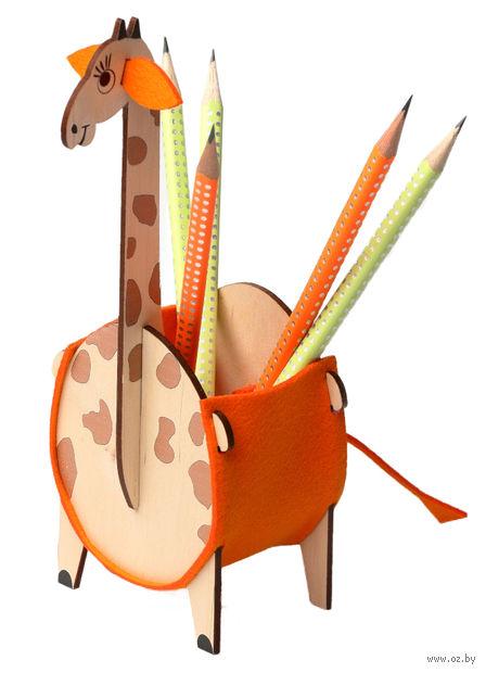 """Сборная деревянная игрушка """"Жираф"""" — фото, картинка"""