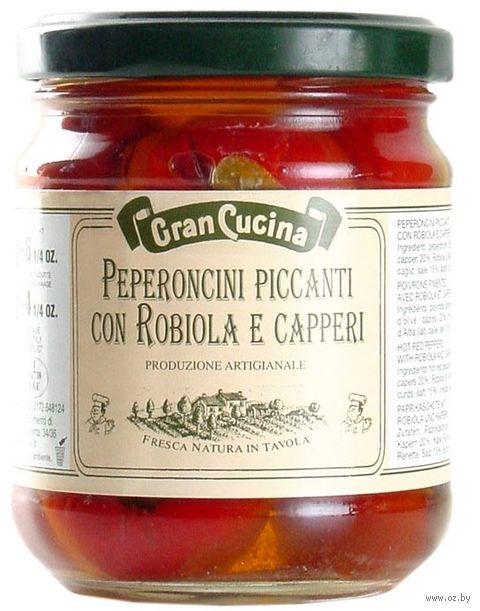 """Перцы чили фаршированные """"Gran Cucina. С сыром и каперсами"""" (180 г) — фото, картинка"""