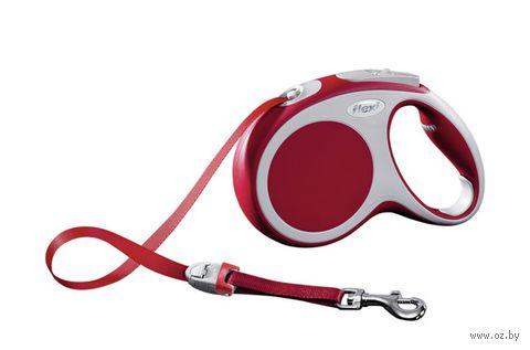 """Поводок-рулетка для собак """"Vario"""" (красный, размер M, до 25 кг/5 м, арт. 12073)"""