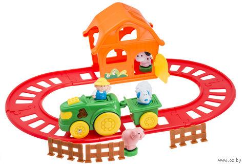 """Развивающая игрушка """"Ферма и железная дорога"""" (со звуковыми и световыми эффектами)"""