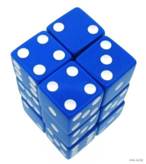 "Набор кубиков D6 ""Опак"" (16 мм; 12 шт.; синий) — фото, картинка"