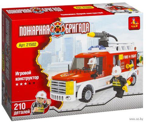 """Конструктор """"Пожарная бригада. Пожарная машина"""" (207 деталей)"""