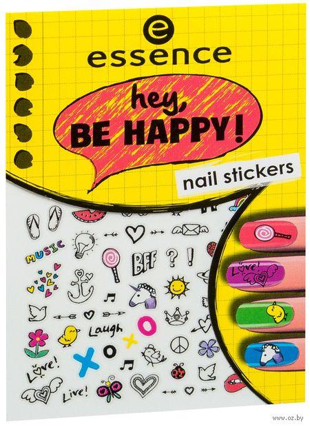"""Наклейки для дизайна ногтей """"Hey, be happy!"""" (тон: 05) — фото, картинка"""