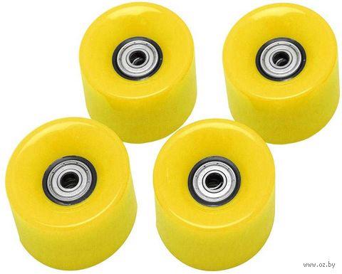 "Комплект колёс для миниборда ""AW-18.05"" (ABEC-5; жёлтый) — фото, картинка"
