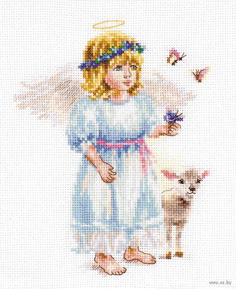"Вышивка крестом ""Светлый ангел"" (130х160 мм) — фото, картинка"