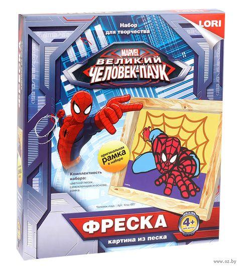 "Картина из песка ""Человек-паук"""
