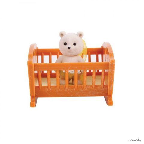 """Игровой набор """"Малыш медвежонок с кроваткой"""""""