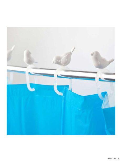 """Набор крючков для душевой шторки """"Peeking Birds"""""""