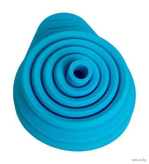 Воронка силиконовая складная (110x70 мм; голубой) — фото, картинка