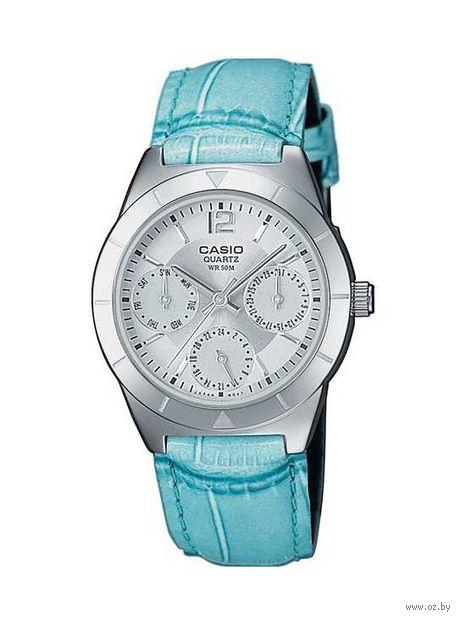 Часы наручные (голубые; арт. LTP-2069L-7A2) — фото, картинка