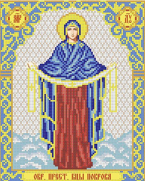 """Вышивка бисером """"Богородица. Покрова"""" (250х200 мм) — фото, картинка"""