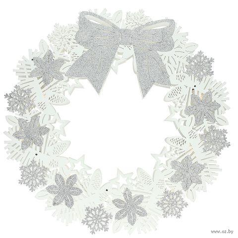 """Рождественский венок """"Бант"""" (45 см; арт. CM8GH029602) — фото, картинка"""