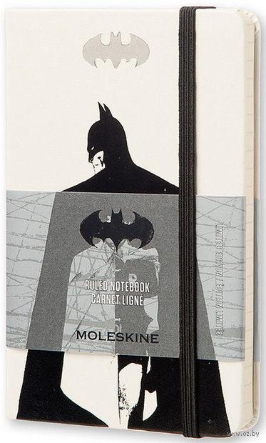 """Записная книжка Молескин """"Бэтмен"""" в линейку (А6; белая)"""