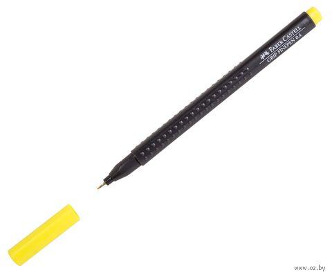 """Ручка капиллярная """"Grip Finepen"""" (0,4 мм; желтый) — фото, картинка"""