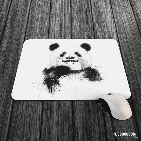 """Коврик для мыши большой """"Панда с усами"""" (506)"""