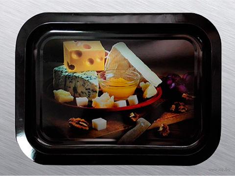 """Поднос металлический """"Сыры"""" (246х328х15 мм) — фото, картинка"""