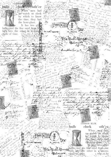 """Бумага для декупажа рисовая """"Почтовые открытки"""" (210х300 мм) — фото, картинка"""