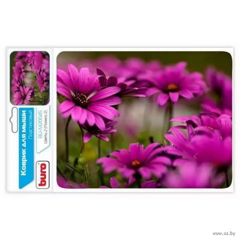 Коврик для мыши Buro BU-M20045 (рисунок/цветы) — фото, картинка