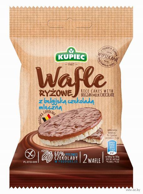 """Вафли рисовые в молочном шоколаде """"Kupiec"""" (30 г) — фото, картинка"""
