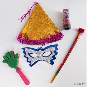 Набор карнавальный (колпак, маска, язычок, хлопушка) — фото, картинка