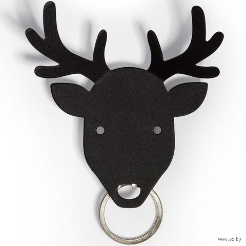 """Держатель для ключей и аксессуаров """"Deer"""" (черный)"""