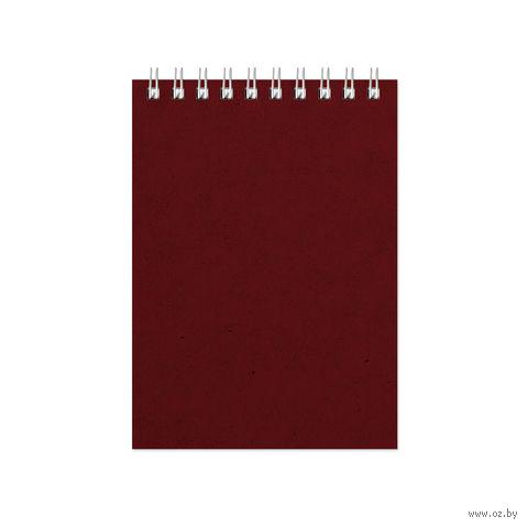 """Блокнот в клетку """"Office"""" (А6; бордовый) — фото, картинка"""