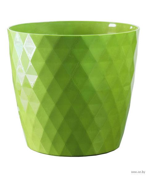 """Цветочный горшок """"Кристалл"""" (16 см; зеленый) — фото, картинка"""