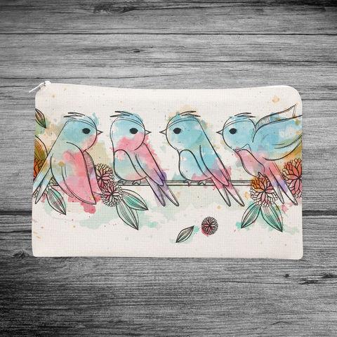 """Косметичка """"Птички"""" (арт. 29) — фото, картинка"""